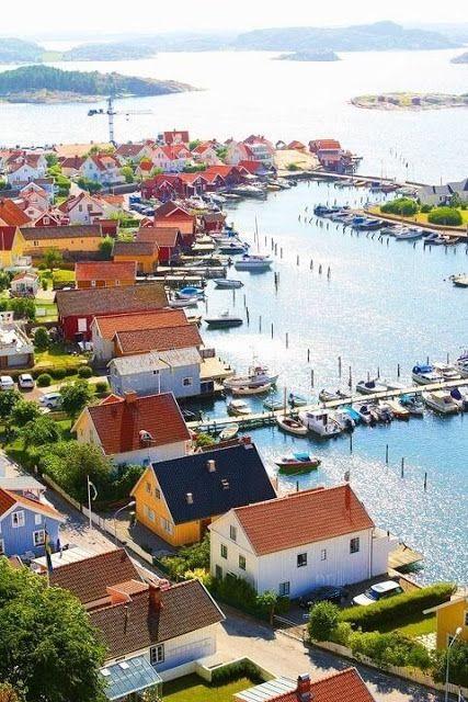 Fjallbacka Sweden Vackra Platser Resor Strander