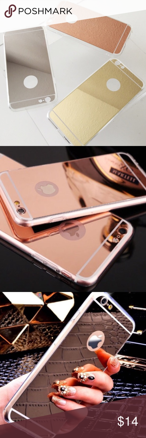 Mirror IPhone Case NEW! 3 colors available. Fashion Nova Accessories Phone Cases