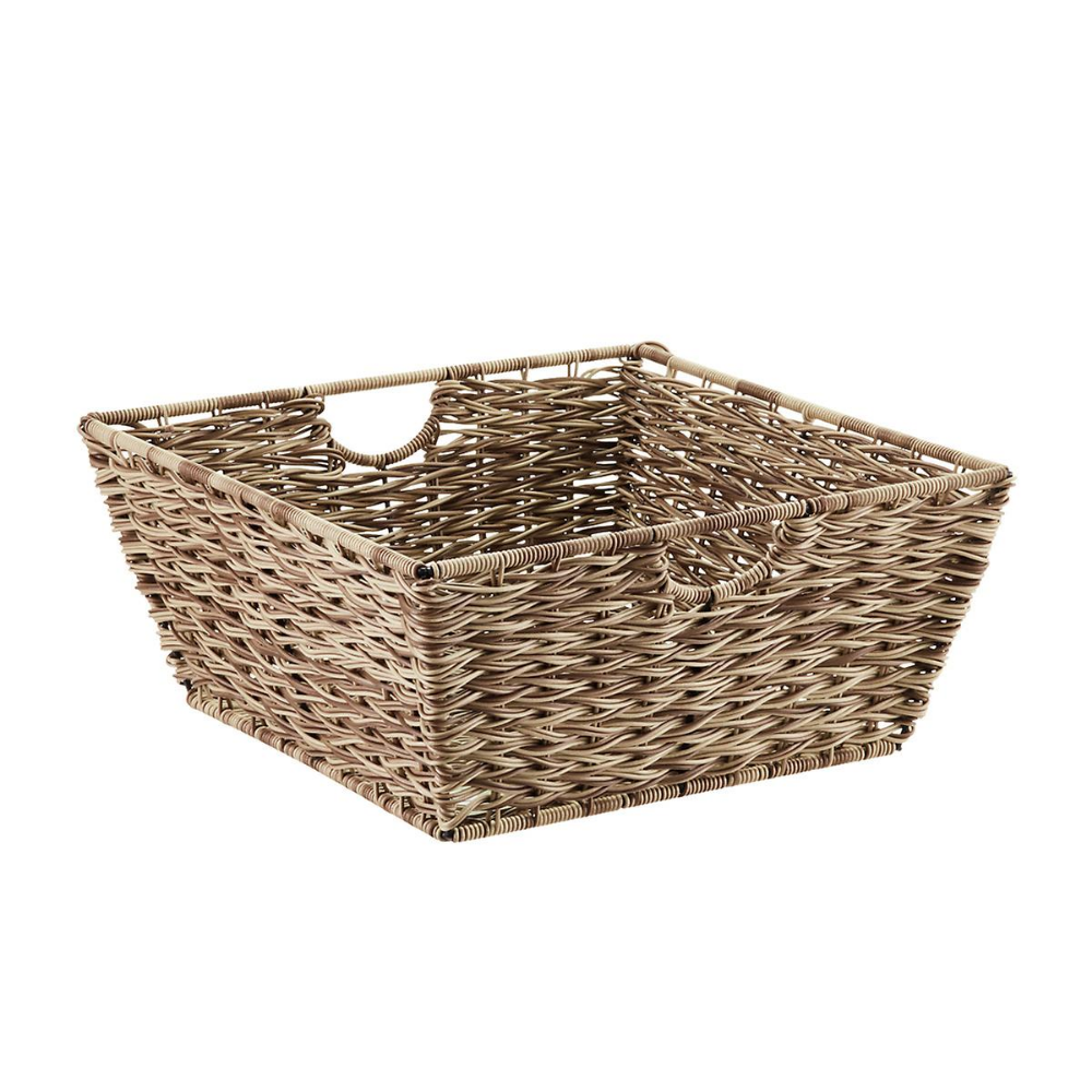 11 X13 Wicker Large Milk Crate Dark Brown Threshold Milk Crates Cube Storage Crates