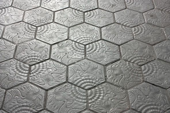 Gaudi's tiles Barcelona