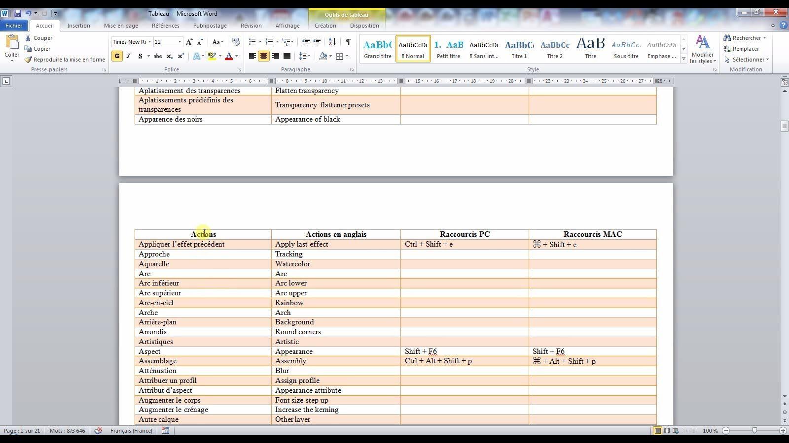Tutoriel Video Pour Apprendre A Inserer Une Ligne D En Tete De Colonne Dans Un Tableau Word En Utilisant Les P Astuces Informatiques Astuces Excel Informatique