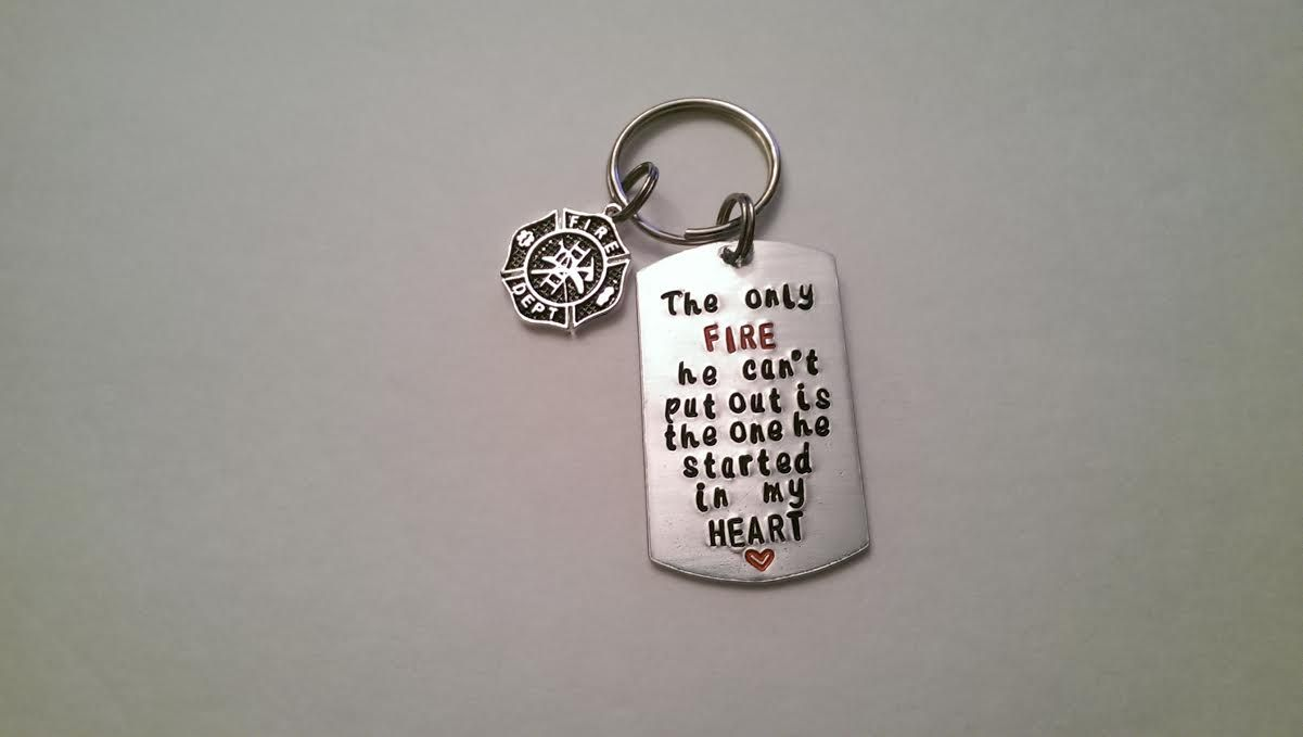 Firefighter Key Chain www.etsy.com/shop/southernimprint
