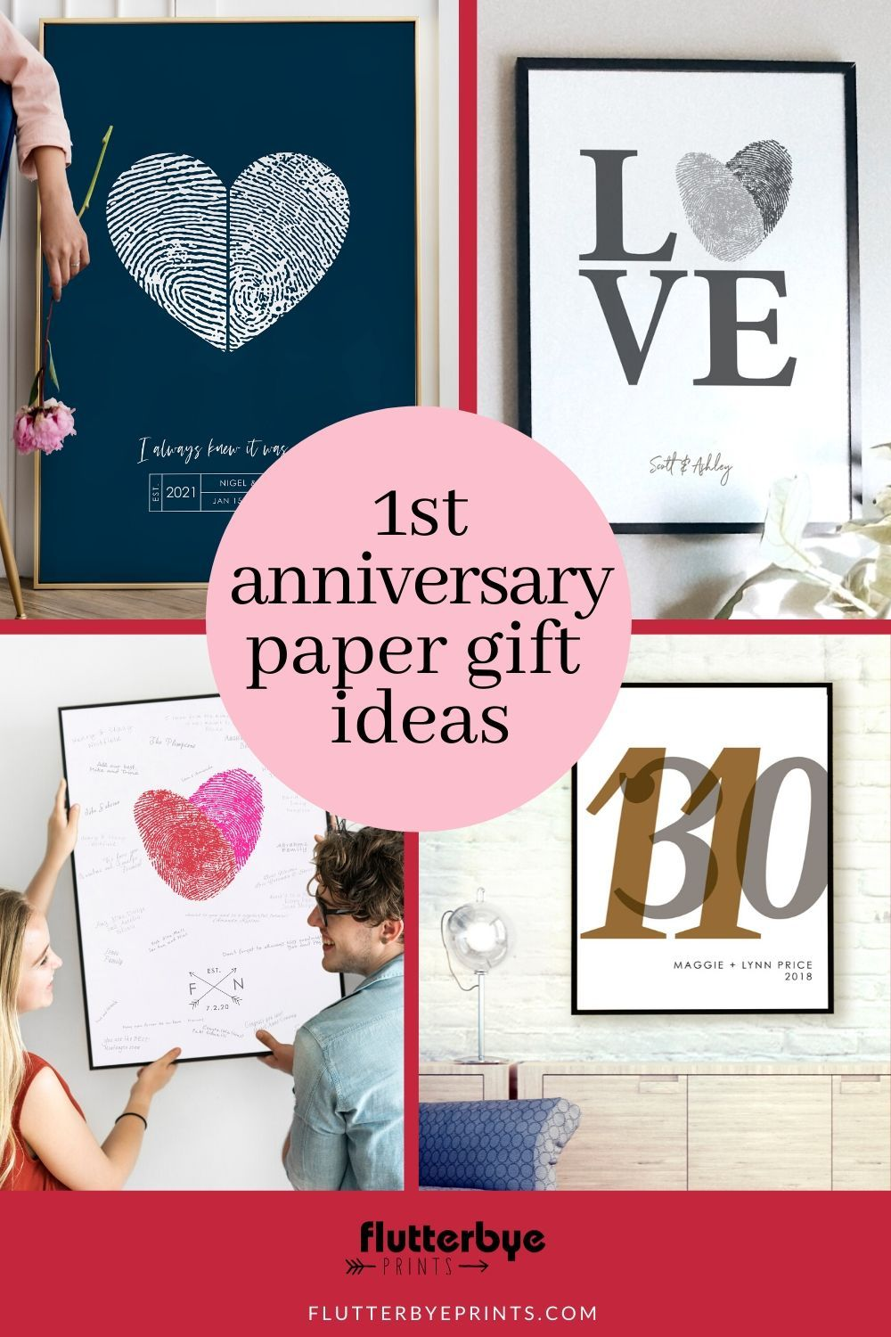 Unique Ideas For The 1st Year Paper Anniversary First Wedding Anniversary Gift Pap In 2020 First Wedding Anniversary Gift Personalized Couple Gifts Paper Anniversary