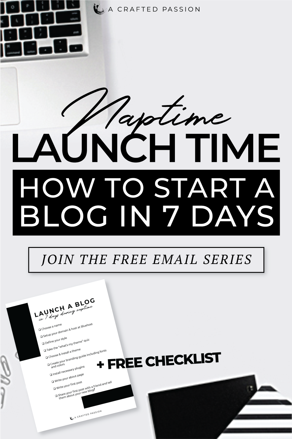 Ready to start a blog, but not sure where to start? Join this free challenge tolaunch your blog in just 7 daysbroken down in simple, actionable steps so you can get it done during naptime this week! Get the lessons sent directly to your inbox. #startablog #diyblog #blogger