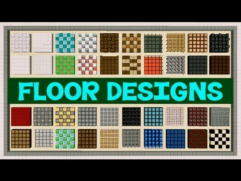 Minecraft Floor Designs Youtube Minecraft Floor