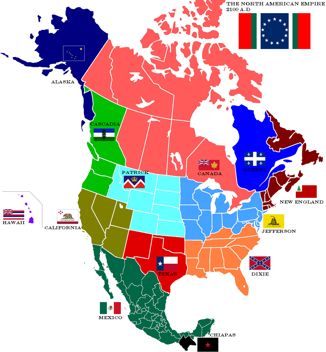 Map of North American Empire by lamnay on deviantART Harbingers