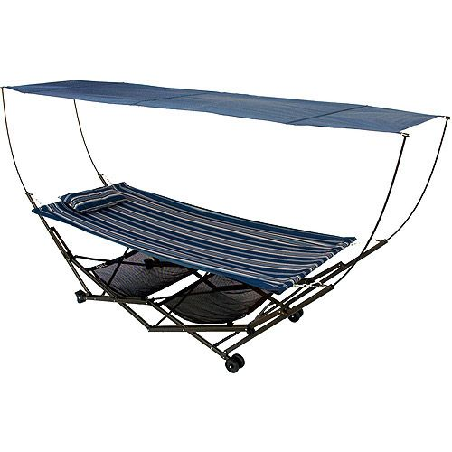 STOW-EZ Hammock with Stand and Canopy Portable Hammock with Stand Foldable Hammock  sc 1 st  Pinterest & STOW-EZ Hammock with Stand and Canopy Portable Hammock with Stand ...