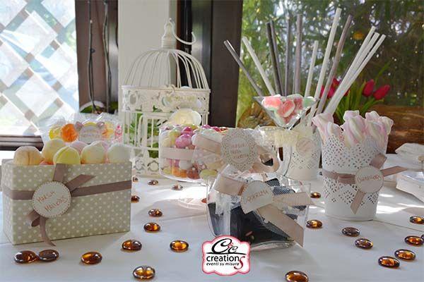 Confettata angolo cake in stile shabby chic per matrimoni battesimo prima comunione e cresima - Tavolo per prima comunione ...