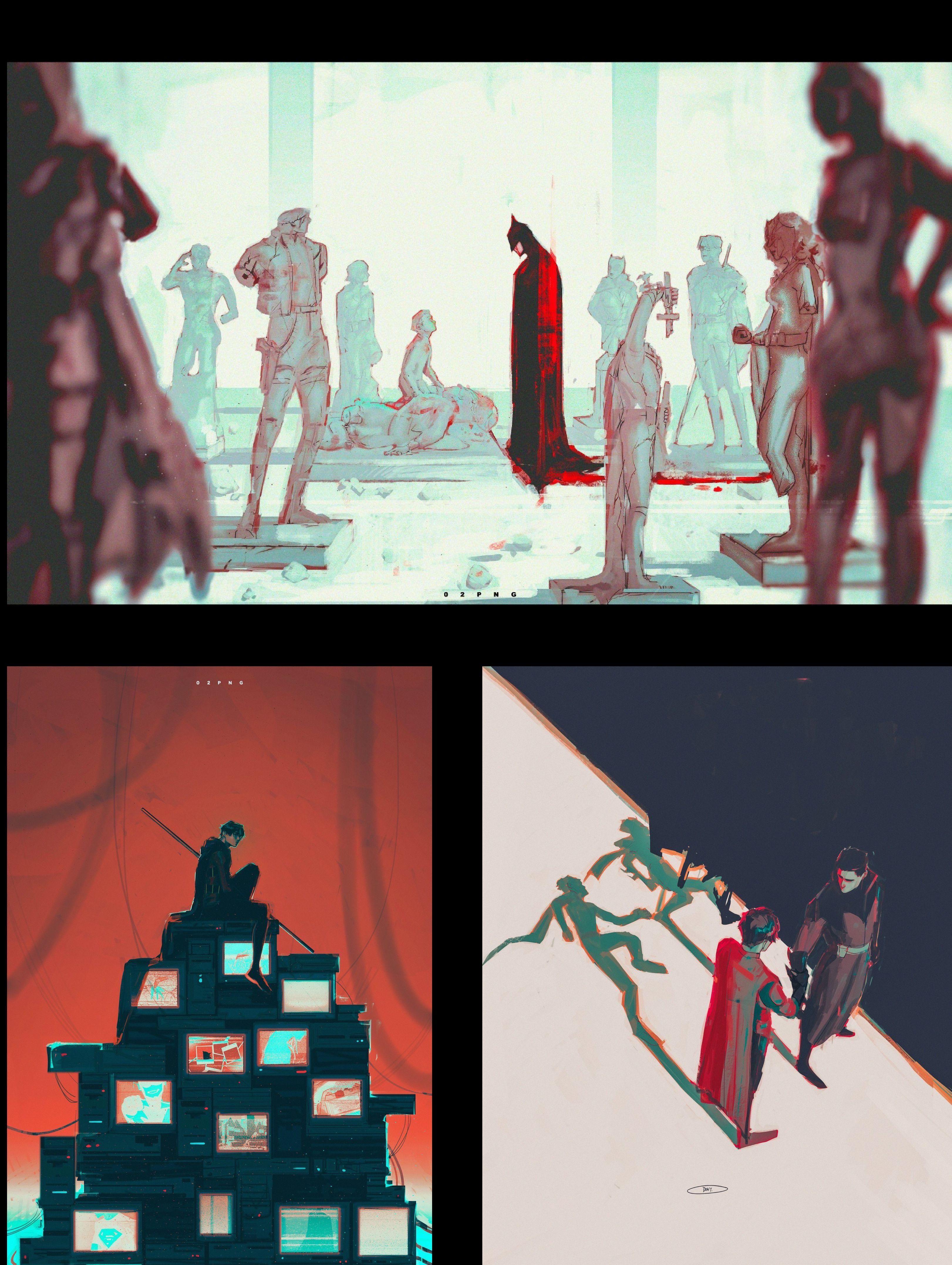 Batfam artwork by 02png artwork dc comics comics