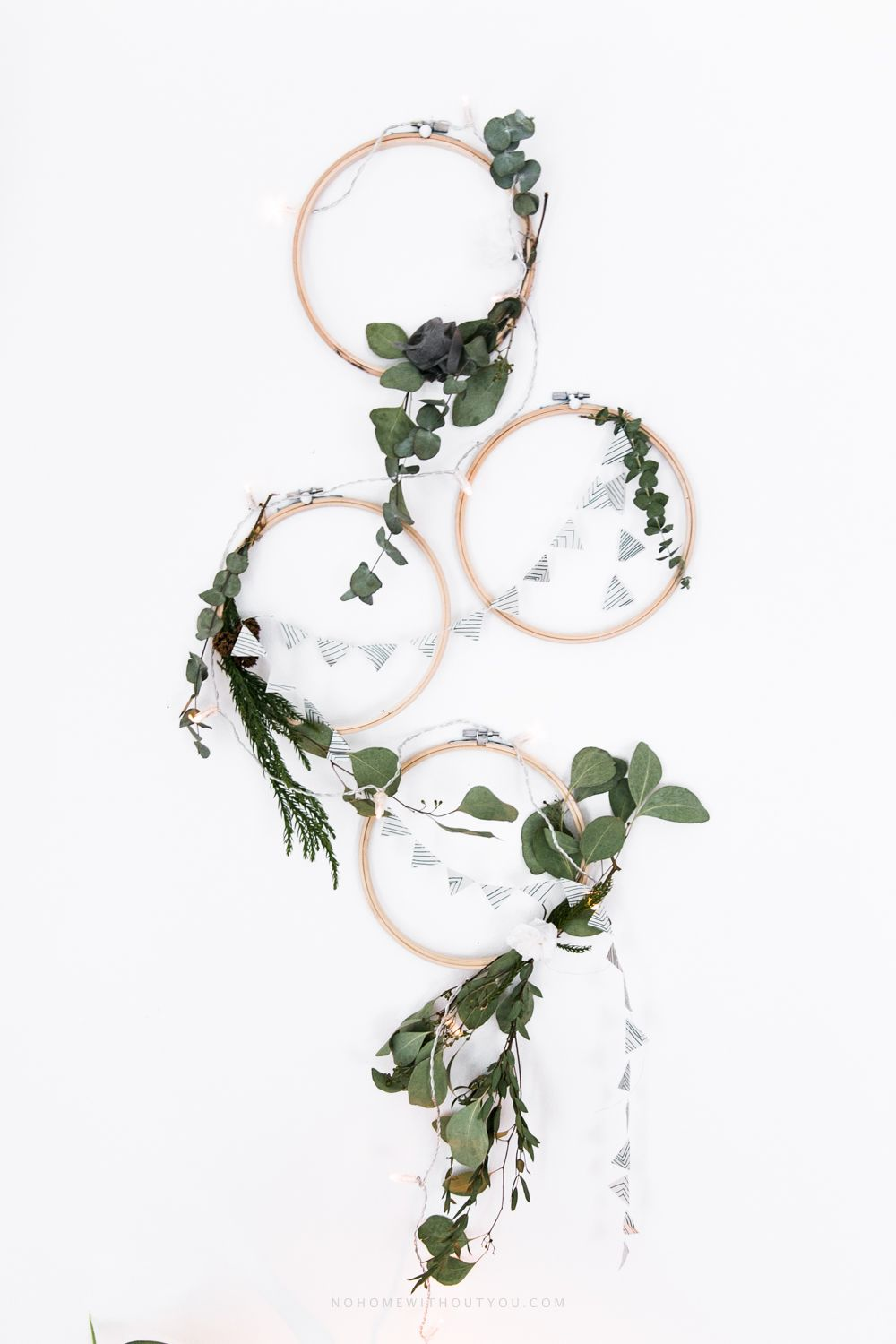 DIY plant wreath eucalyptus coniferous No Home Without You (10 of 12)