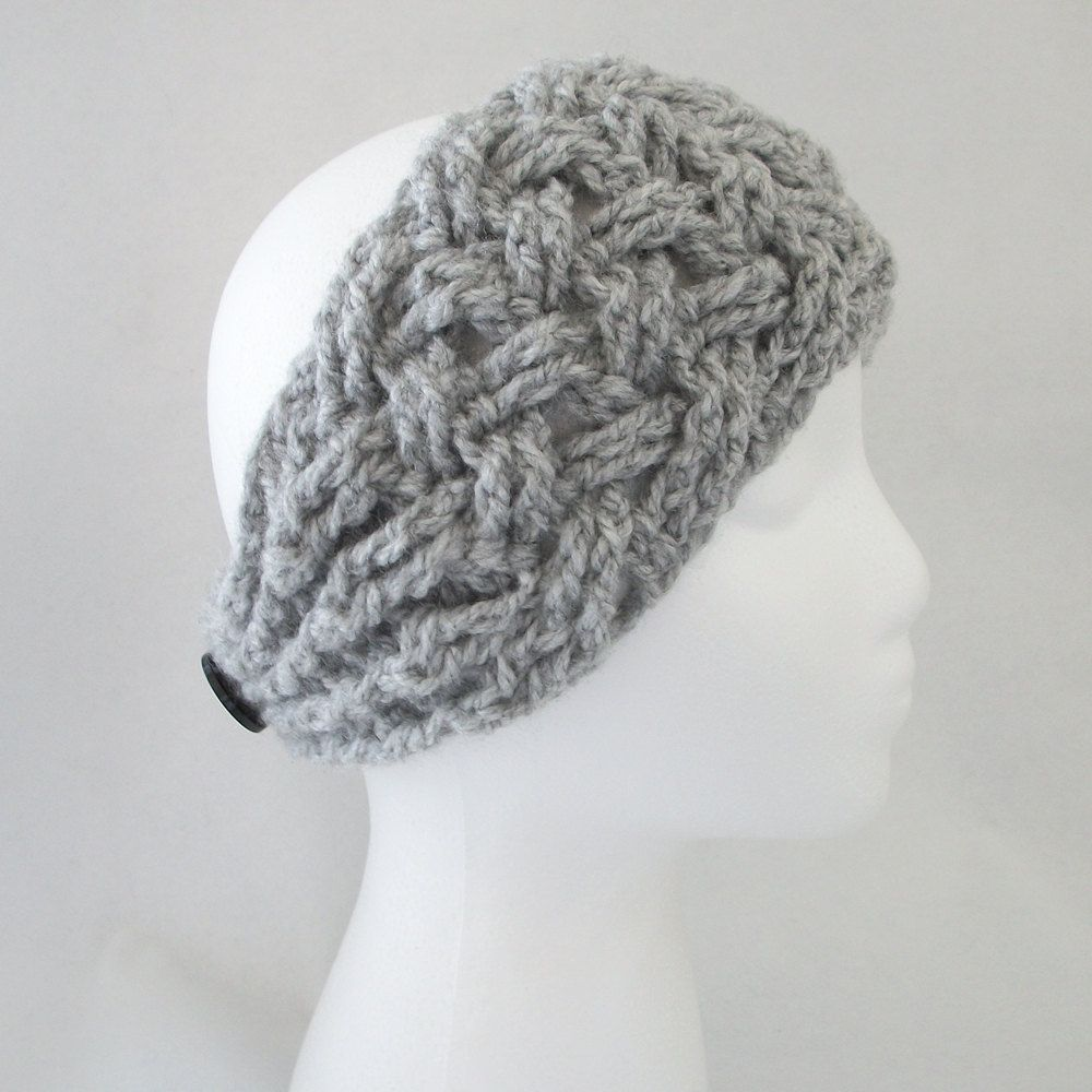 Instant Download to PDF CROCHET Pattern: NEW Lattice Headband w Puff ...