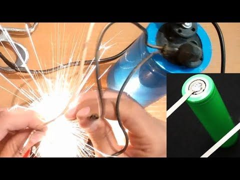 Making a battery tab spot welder using a laptop charger and capacitor.Amazing performance - YouTube