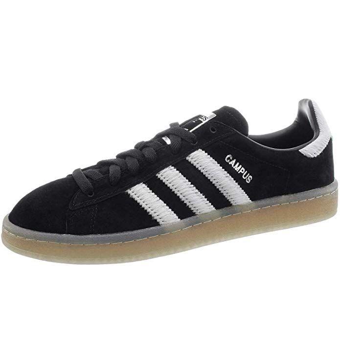 Graue Adidas Campus Schuhe mir weißen Streifen