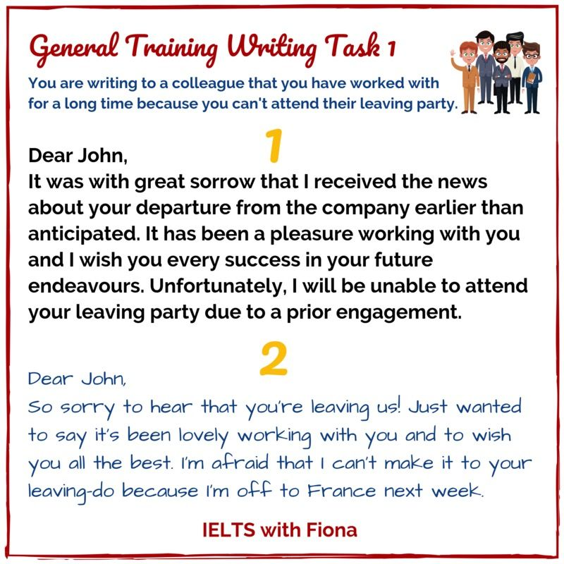 How to write a formal or informal letter Ielts, Formal