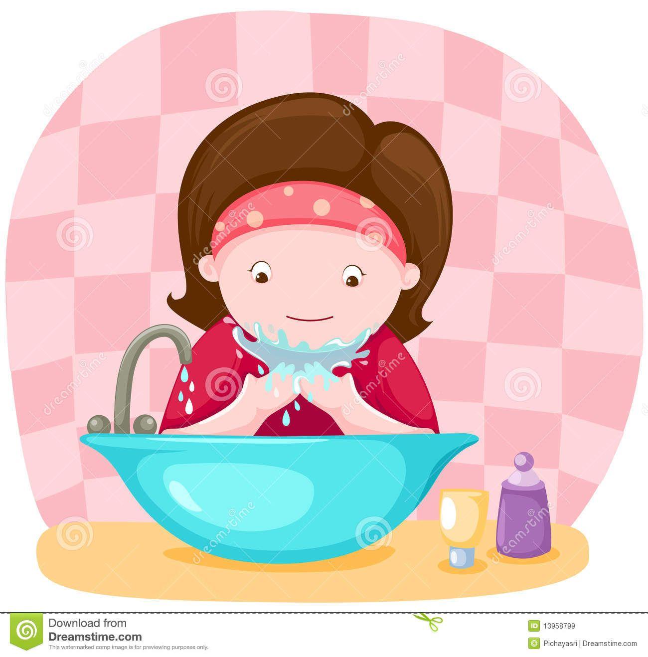 wash face clipart - Google Search | Ambientacion de aula ...