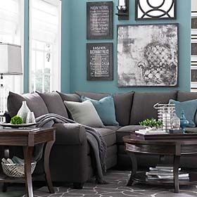 Gray And Turquoise Living Room Decorating Ideas For Walls Love The Greyed Down Paired With A Soft Orangy Coral Accent Some Lime Rind Green Gorgeous Aqua