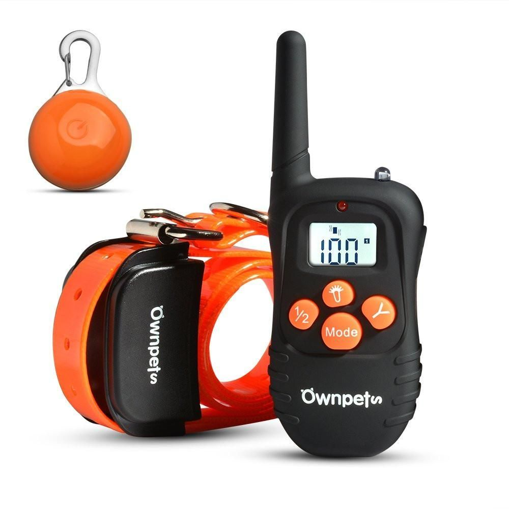 Upgraded Version Ownpets Rechargeable 330 Yards Dog Training
