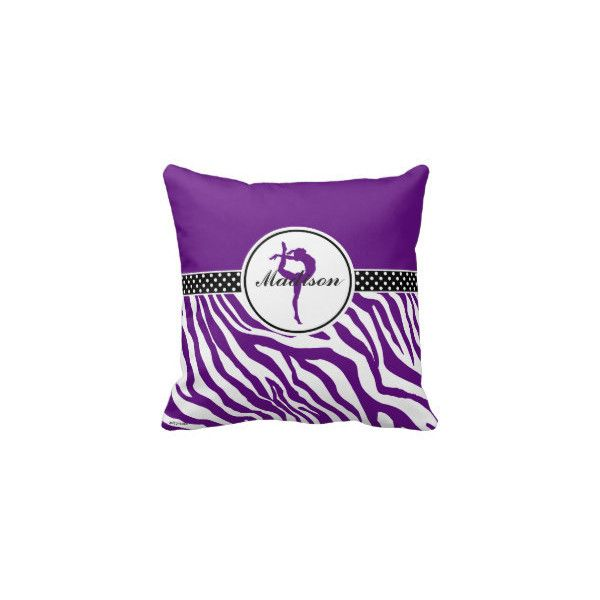 GollyGirls: Throw Pillows | Gymnastics | Zazzle.com Store ❤ liked on Polyvore featuring home, home decor, throw pillows and gymnast