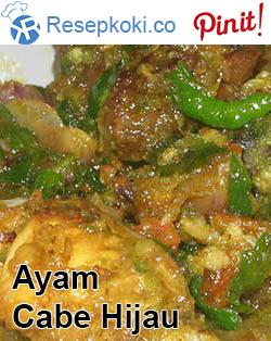 Resep Olahan Ayam Masak Cabe Ijo Resep Ayam Resep Resep Masakan