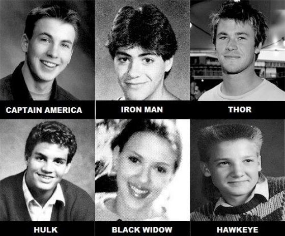 See the High School Yearbook Photos of the Avengers Cast | Super