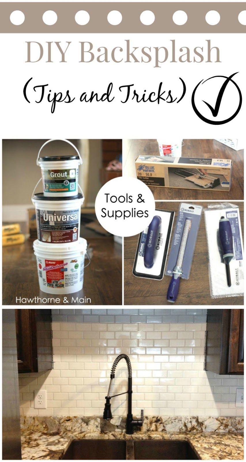 DIY Kitchen Backsplash | Sumideros, Consejos y Pensamientos