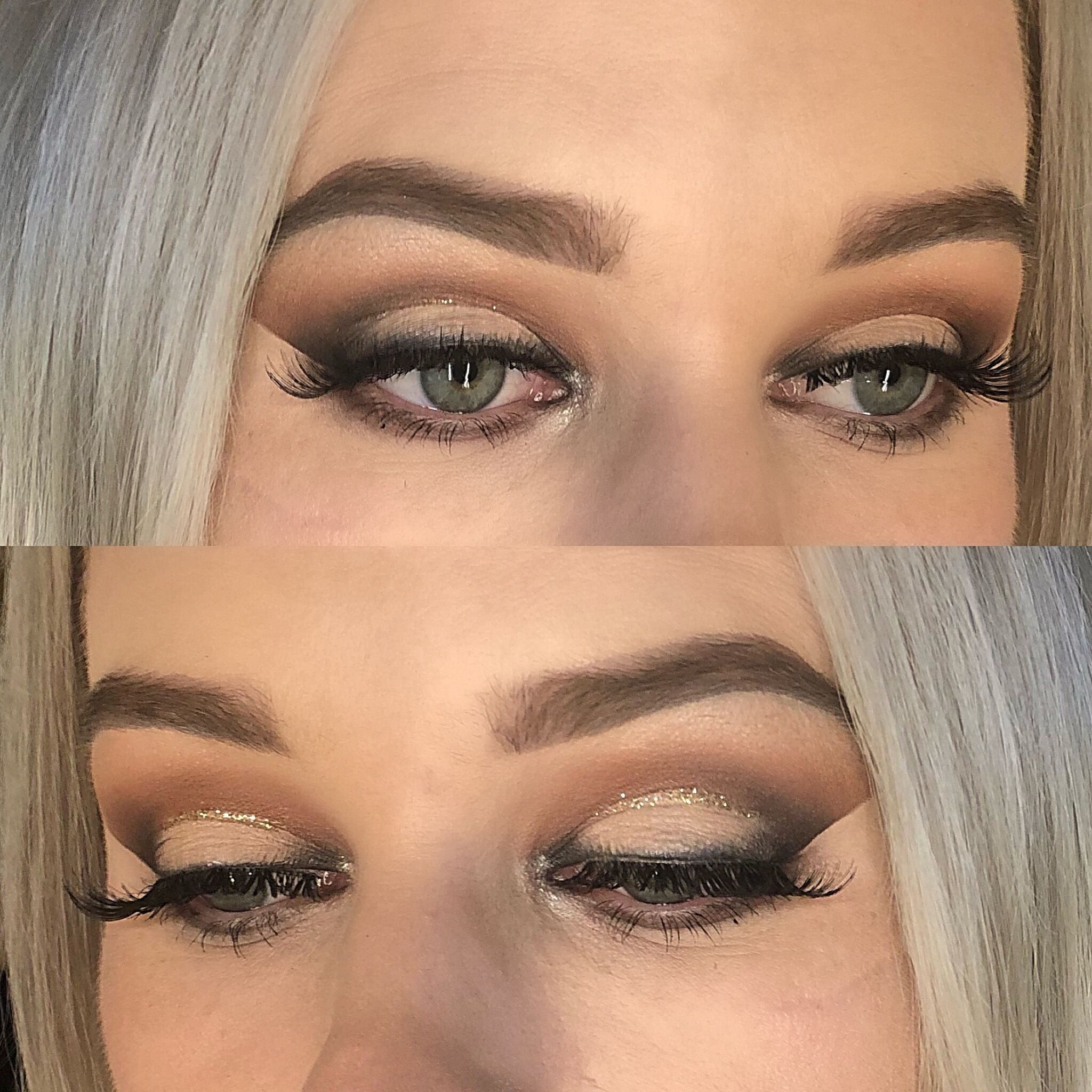 Simple halo eye with glitter 💕 Makeup looks Makeup