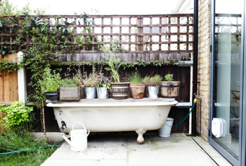 Roll Up Roll Top Bath Outdoor Baths Garden