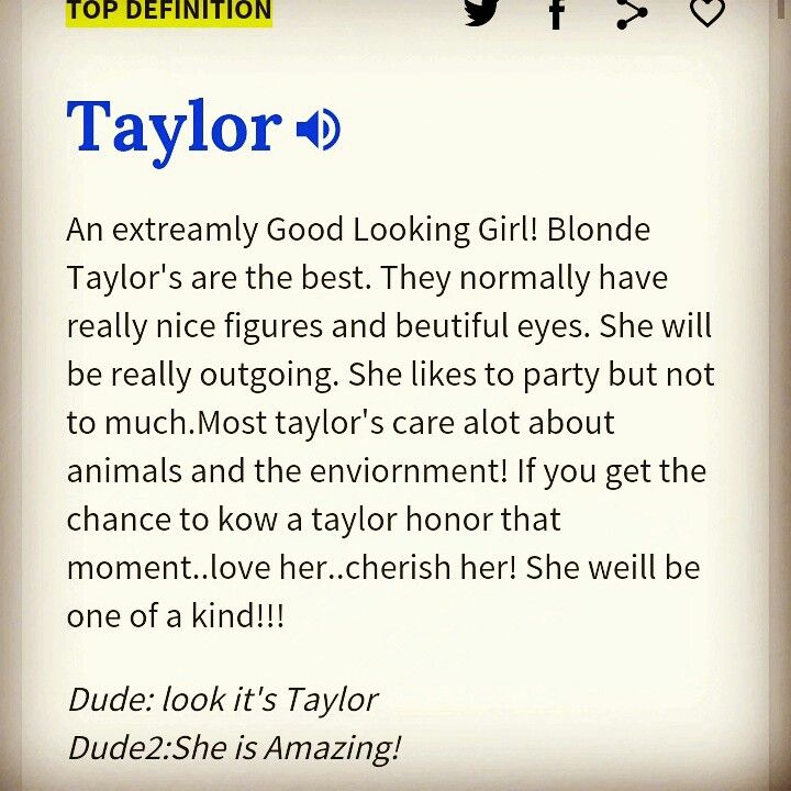 definition of taylor urban dictionary