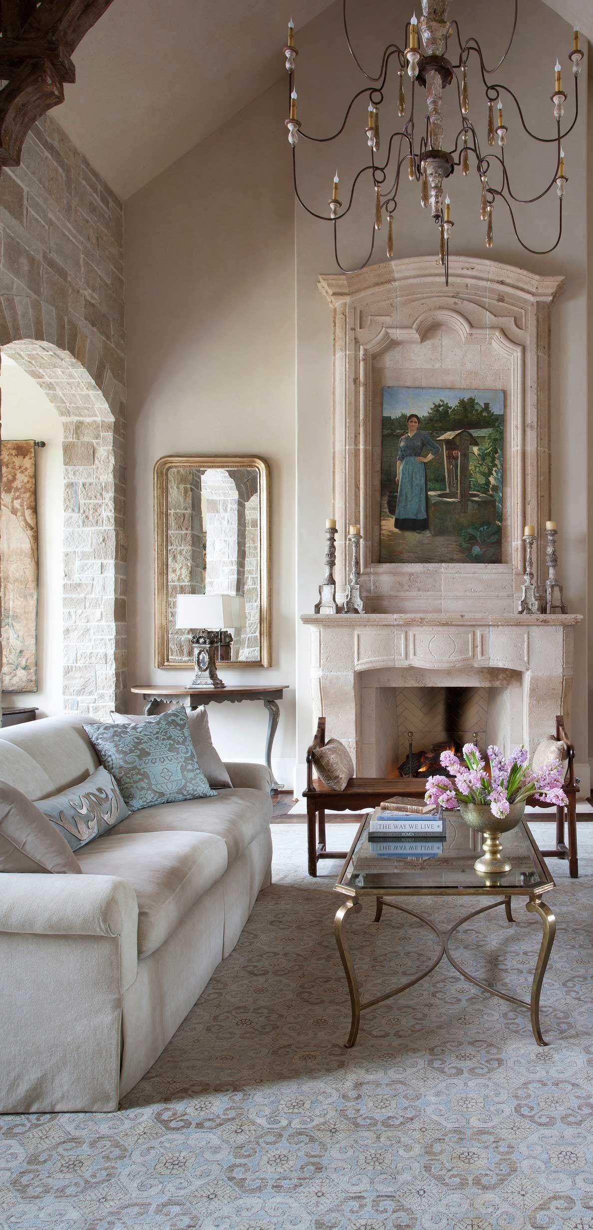 Tuscan Mediterranean Living Room Chandelier Fireplace  Old World Fascinating Italian Living Room Design 2018