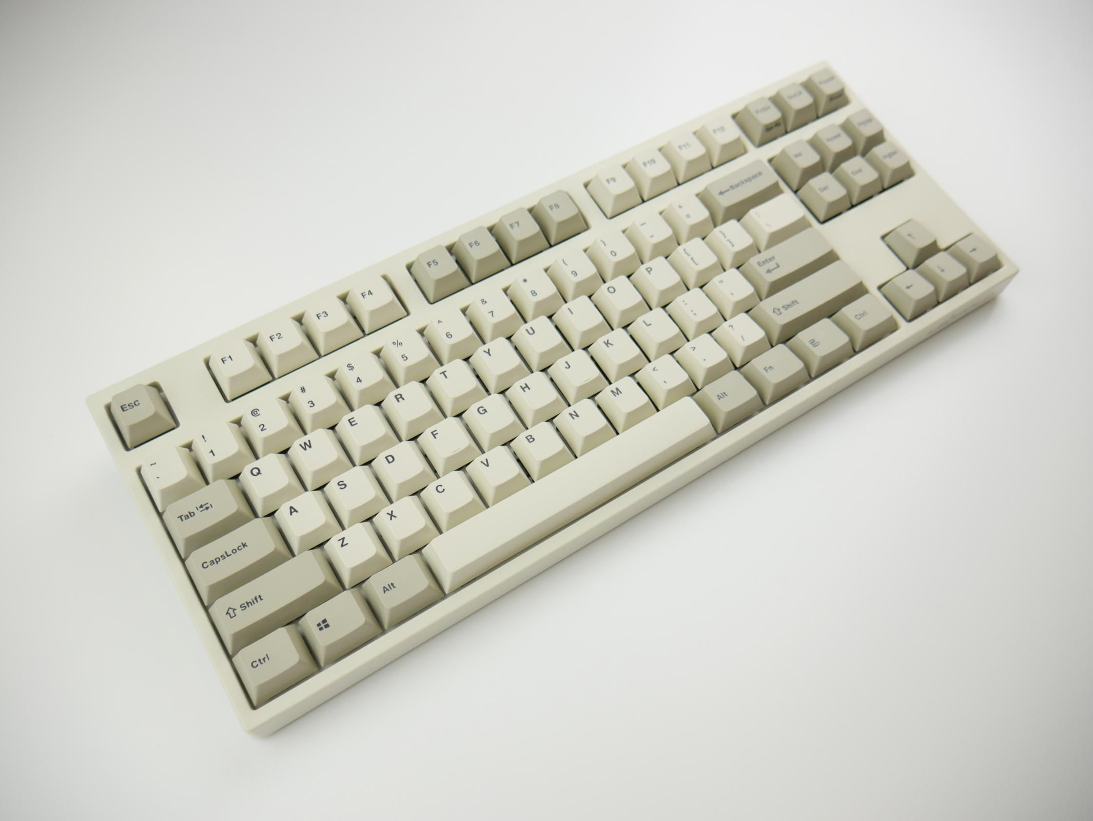 a5812b64a79 Leopold FC750R Two Tone White PD TKL Double Shot PBT Mechanical Keyboard  with Cherry MX Brown, Blue, Black, Red, Clear, or Silent Red switches