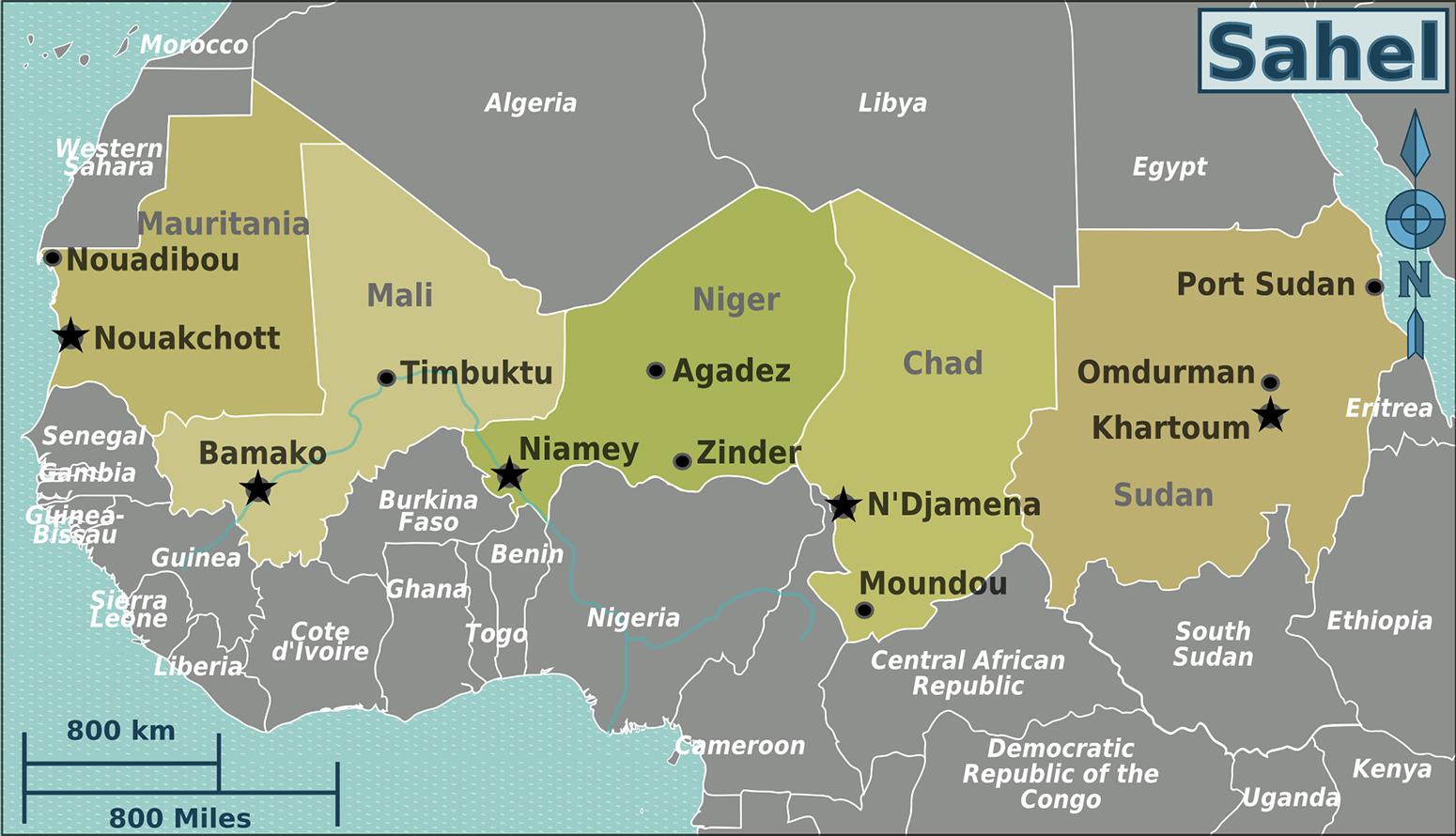 Sahel region   Africa, Africa map, Sahel region