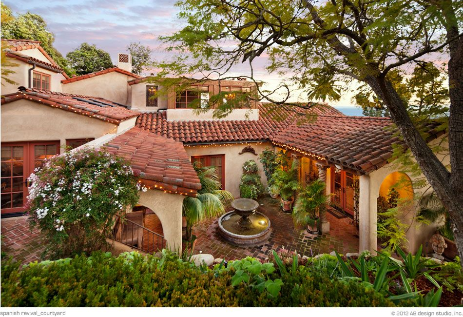 Spanish revival residence ab design studio inc love the for Santa barbara style house