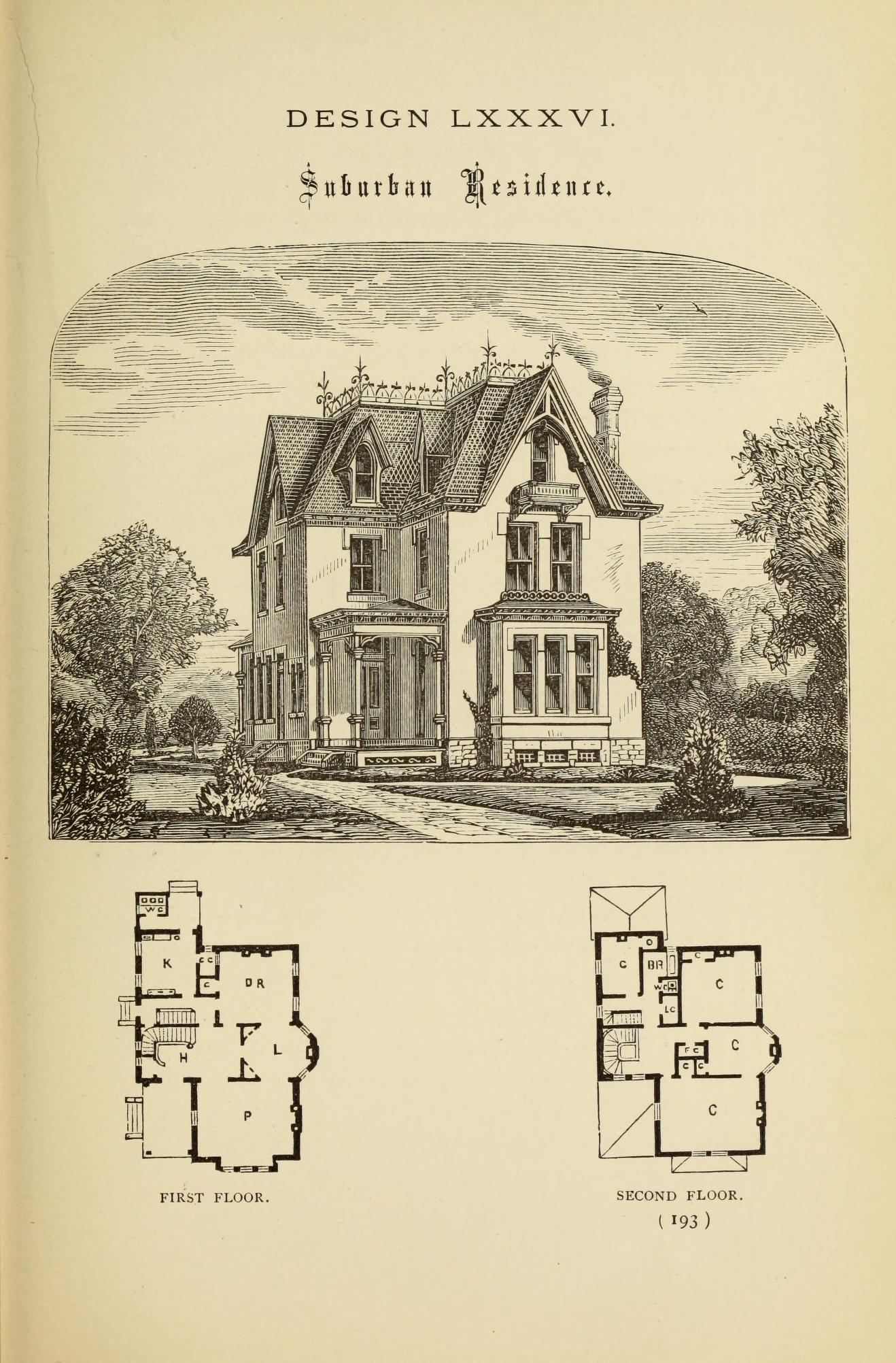 Hobbs S Architecture Containing Designs And Ground Plans For Villas Cottages And Other Edifices Both Sub Victorian House Plans Sims House Design How To Plan