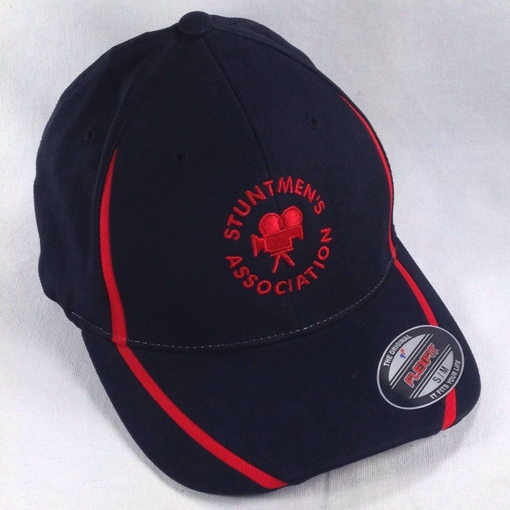 Stuntmen S Association Black Red S M Fitted Baseball Hat