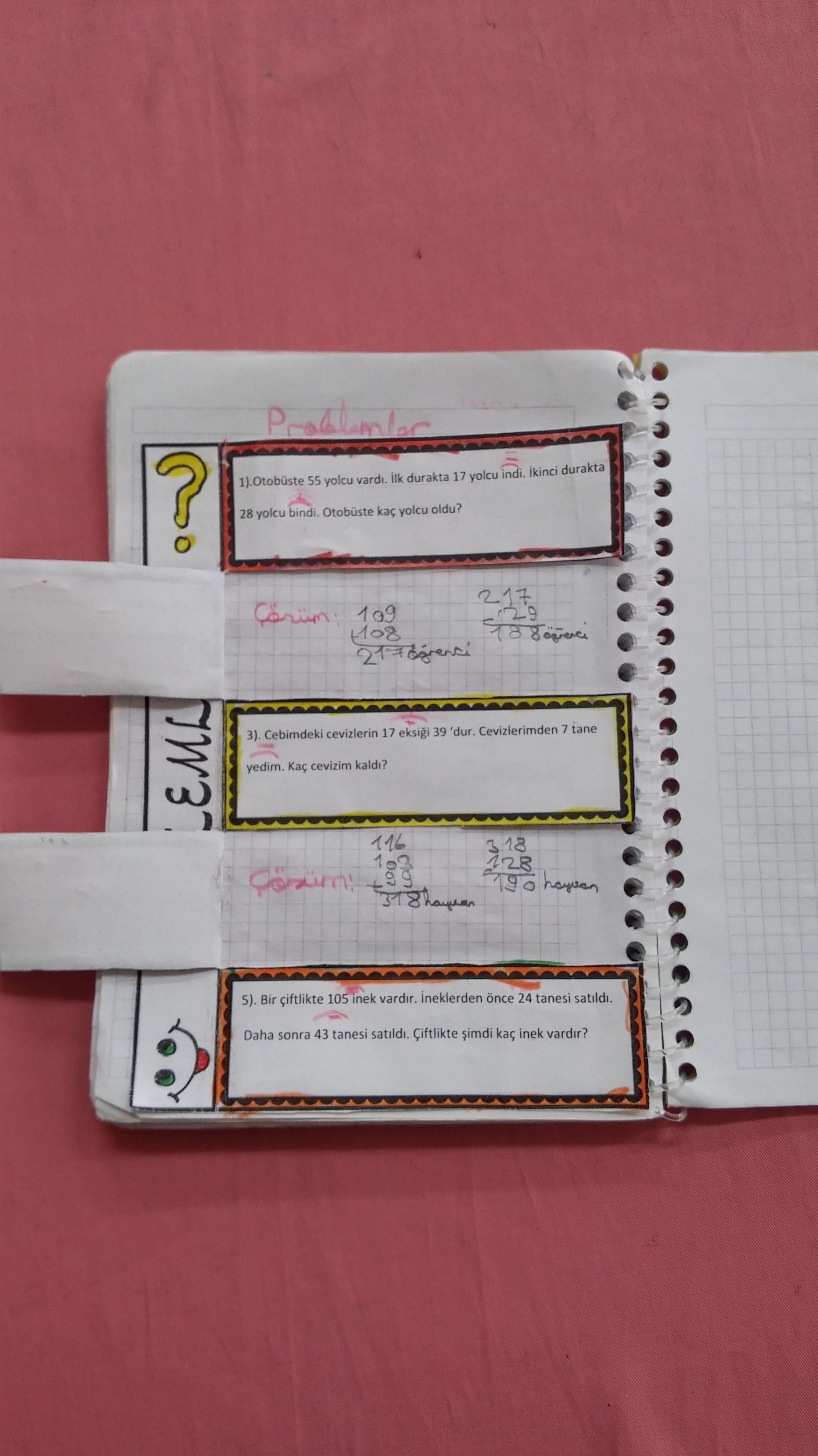 İnteraktif Defter Çalışması - Matematik Problem Çözüyorum ...