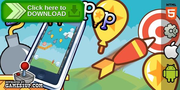 Free nulled Balloon Pop - HTML5 CAPX Construct 2 download