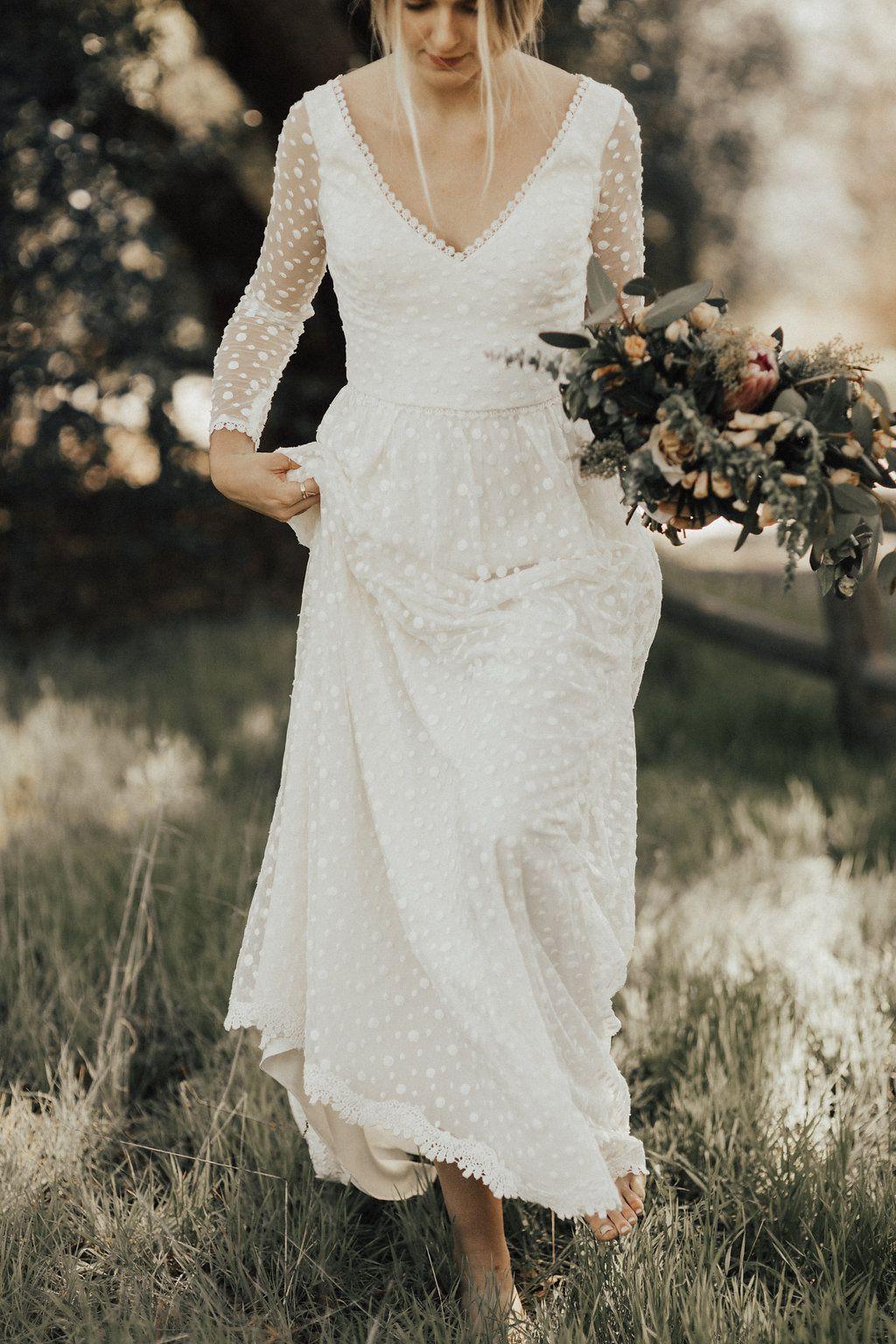 Audrey long sleeves lace dress wedding dresses pinterest