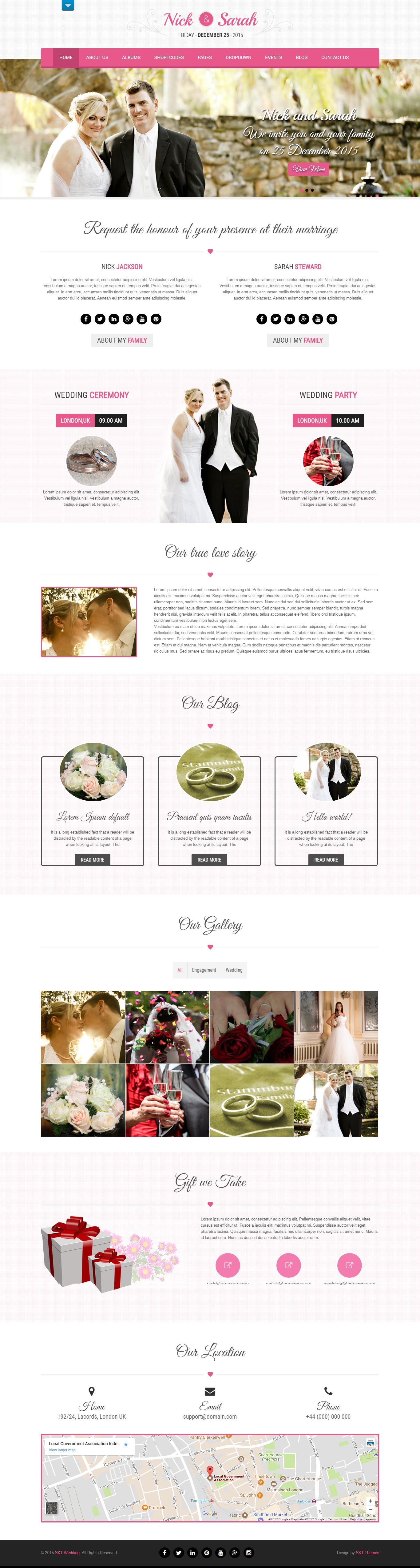 Free Wedding WordPress Themes for Engagement, Matrimonial Websites ...