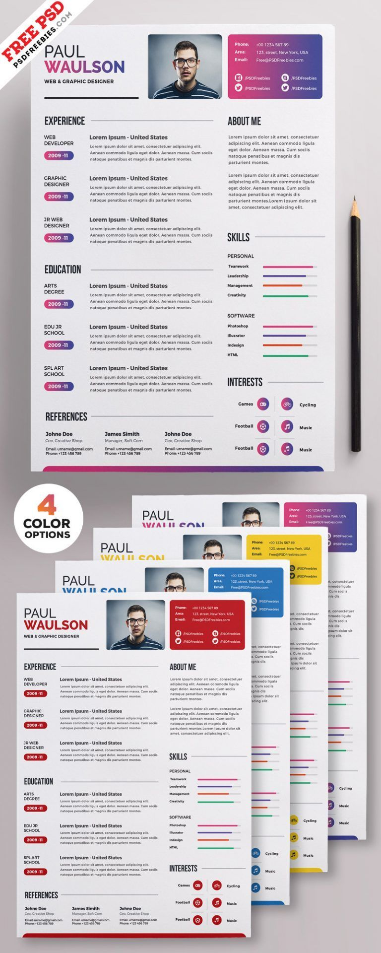 Resume template free Creative resume templates Resume