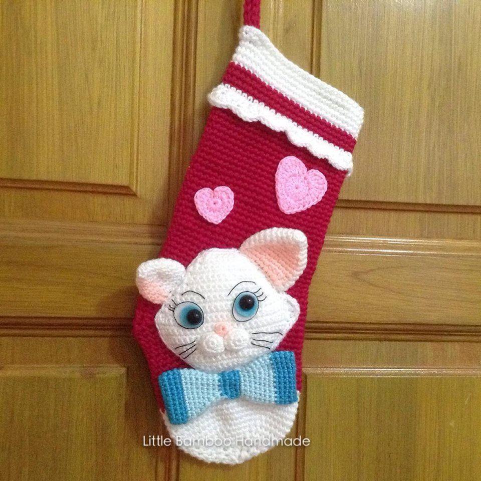 PATTERN-My Lovely Cat Christmas Stocking-Crochet Pattern, pdf by ...