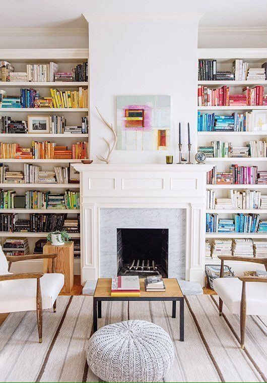 14 Cozy Library Fireplaces We\'d Love to Come Home To | Cozy ...
