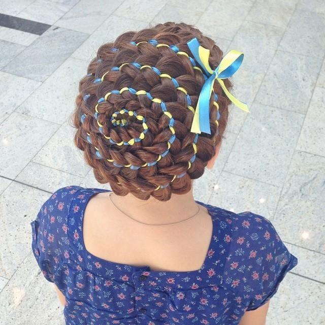5 strand ribbon braid hair