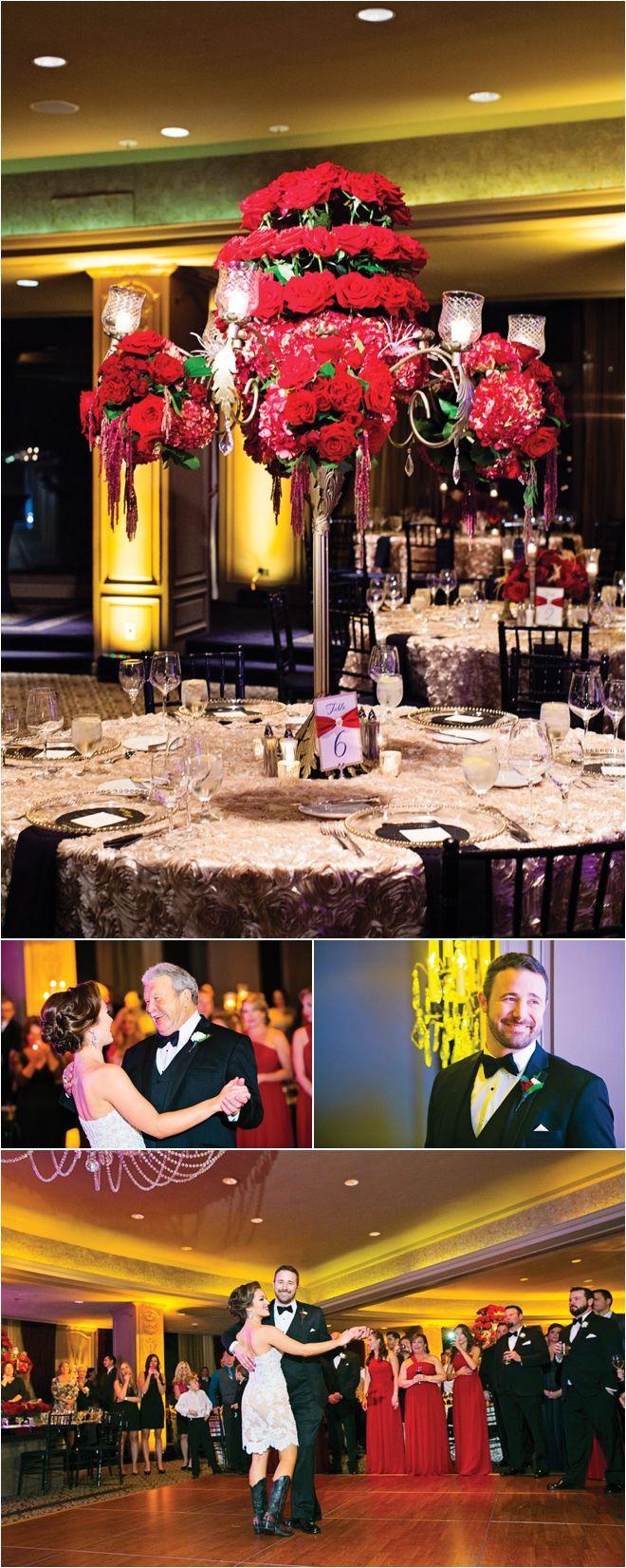 Red, Gold & Black Wedding at Hotel ZaZa by Select Studios