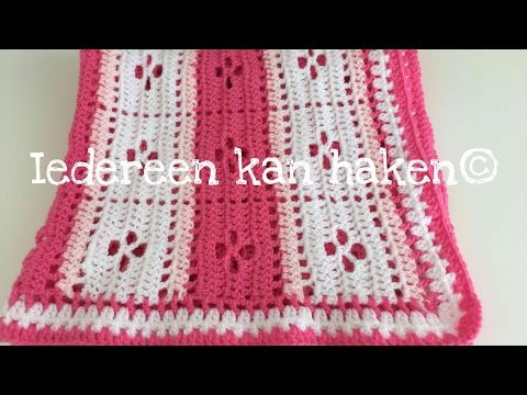 Iedereen Kan Haken Rand Om Babydekentje Leren Haken Crochet Diy