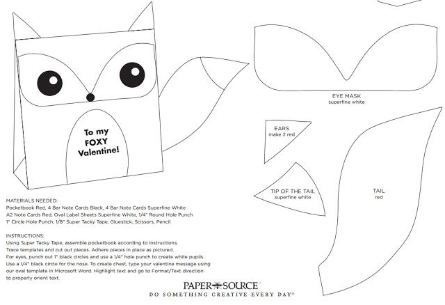 Free Fox Party Favor Bag Template Printable #party | printables ...