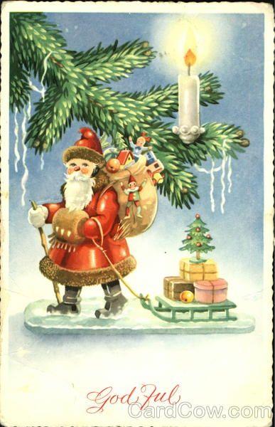 Santa with sled God Full