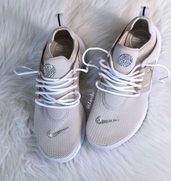 Nike Air Presto Desert Sand White customized with SWAROVSKI®  cff553f84