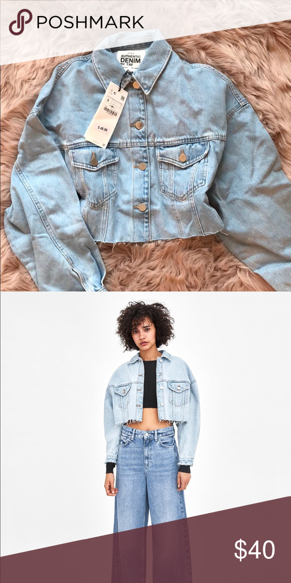 36e463b0 Zara cropped denim jacket, new with tags. Only selling because couldn't  wait for it to come in the mail so bought one in store, ...