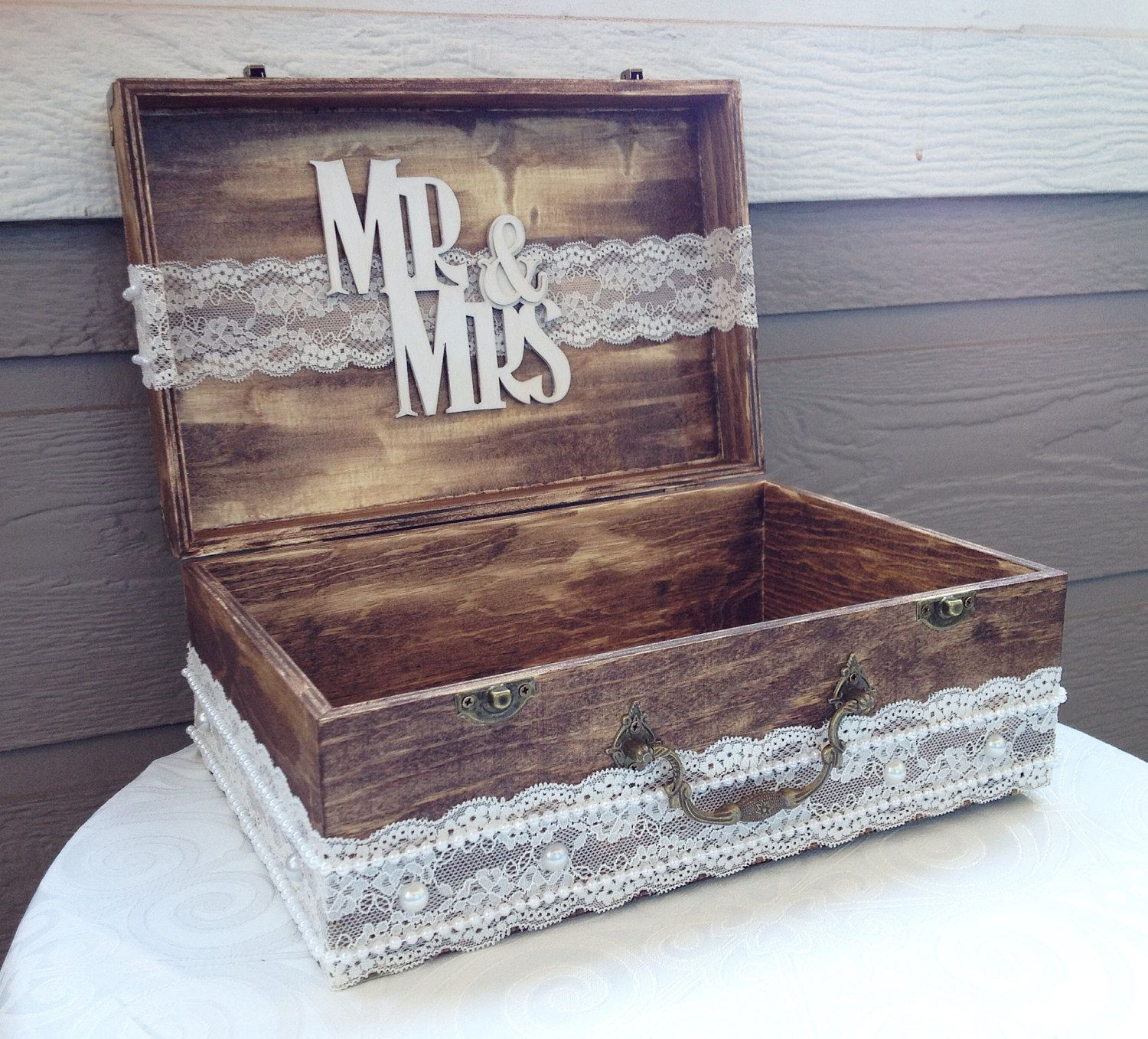 Wedding Card Box, Wedding Envelope Box, Rustic Wedding, Wedding ...