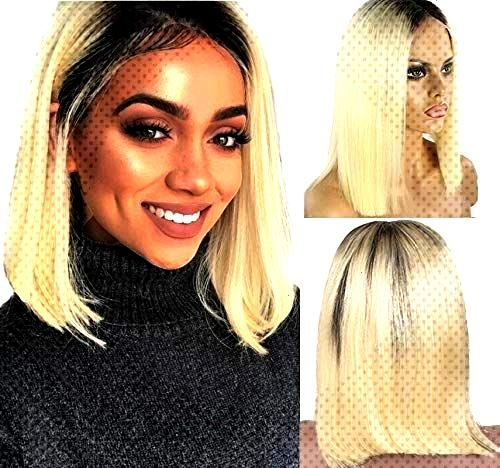 Deep Curly Bob Wigs PrePlucked Virgin Human Hair Lace frontal Middle Part Bleach Knot with Baby Hai